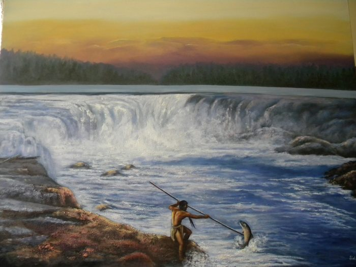 Willamette Falls Yesterday - 48 x 60 - Acrylic & Oil