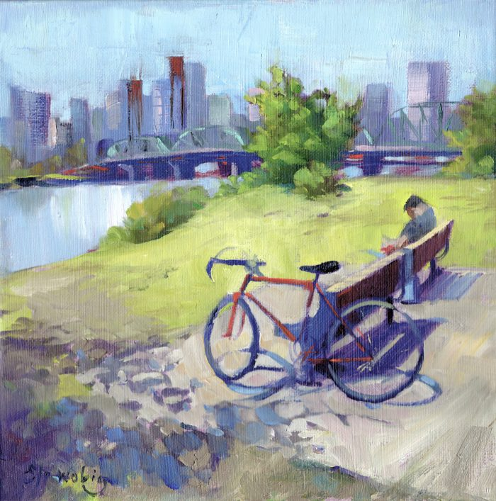 Lunchbreak PDX East Waterfront - 10 x 10 - Oil