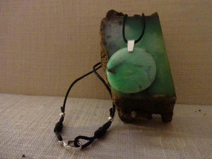 Chrysoprase Necklace - Natural Stone
