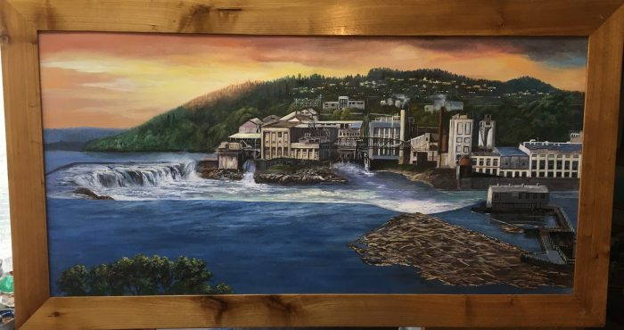 Willamette Falls Mill - 36 x 18 - Acrylic
