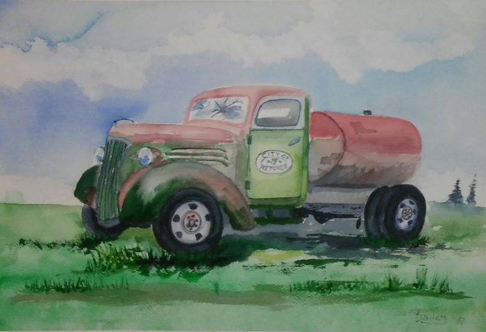 Heppner Watertruck - 28 X 21 - Watercolor