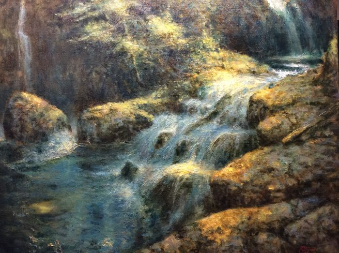 Butte Creek Falls - 36 x 29 - Oil