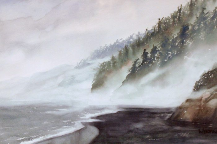Oregon Coast - 24 x 18 - Watercolor