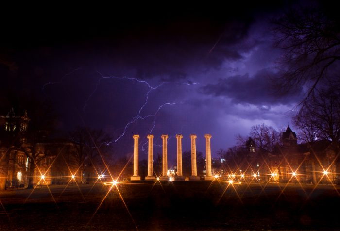 Storm on the Quad - Photograph
