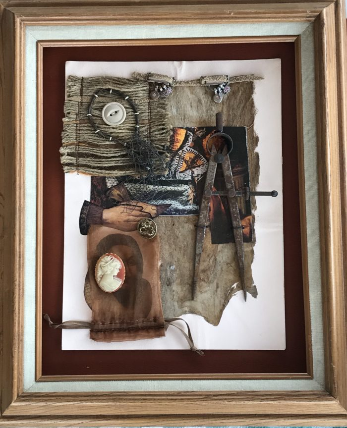 Starts with a Handshake - 8 x 11 - Assemblage