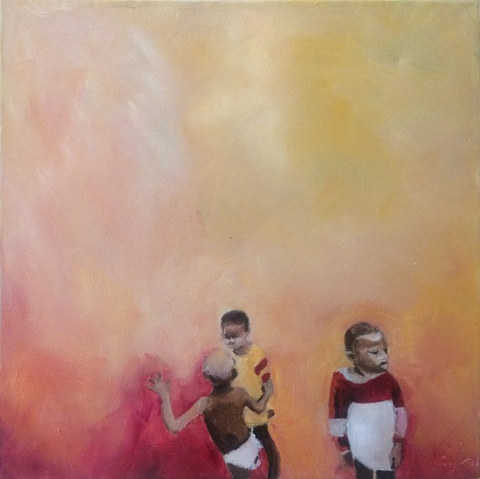 Awon Boys - 15x15 - Oil on Canvas