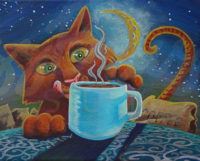 Cat-fe Coffee - 10x8x.5 - Acrylic