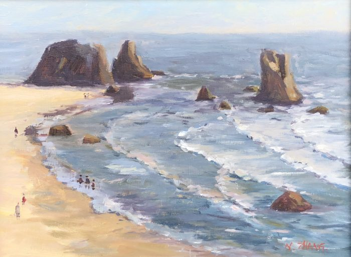 Coquille Point - 16x12 - Oil
