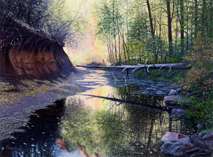 Creekside Reflections - 27x20 - Oil