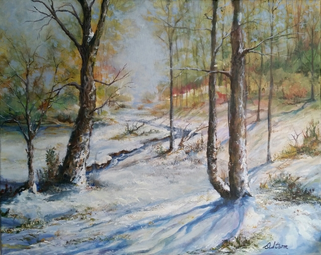 Early Snow - 20x16 - Acrylic