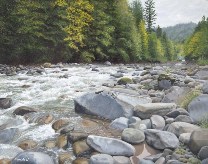 Fall on the Sandy River - 24x19 - Oil