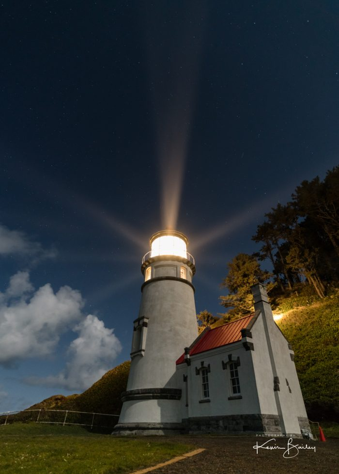 Heceta Head Lighthouse Lighting The Way - Photography