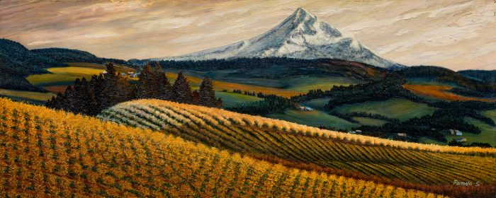 Hood River Valley Afternoon - 42x16 - Oil