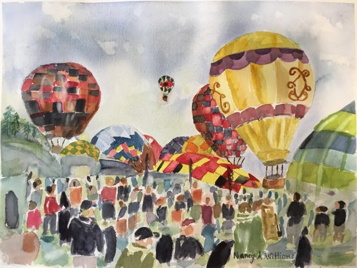 Hot Air Balloon Festival - 16x12 - Transparent Watercolor