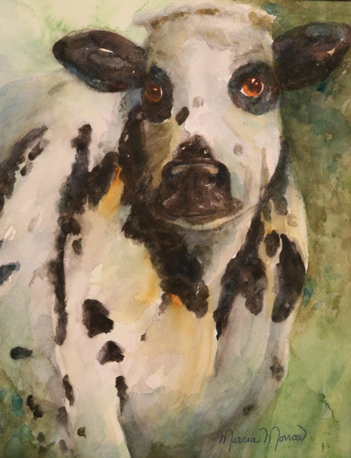 La Moo - 18x22x1 - Watercolor