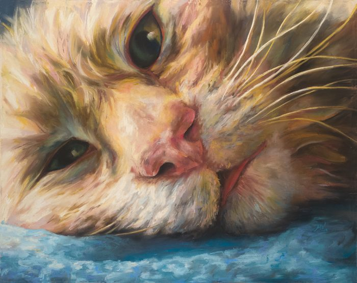 Lazy Day Cat - 17.5x14 - Pastels