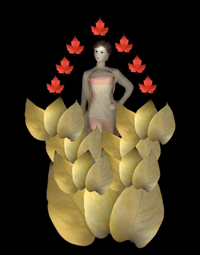 Leaf Woman- 11x14x1 - Photocollage