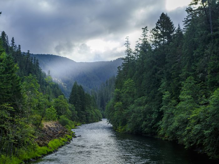 Light Beam over Clackamas River - 6.67 x 5 - Photography