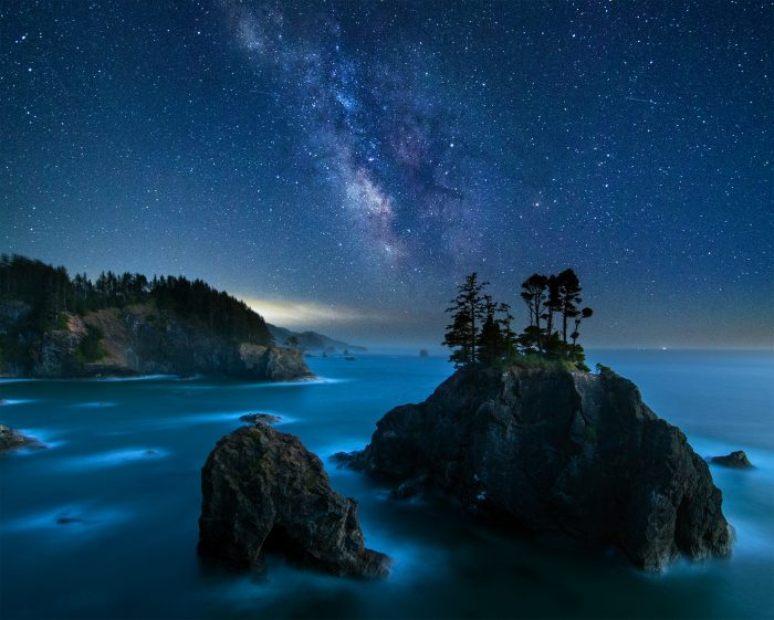 Milky Way over Sea Stacks - 20x24 - Photography
