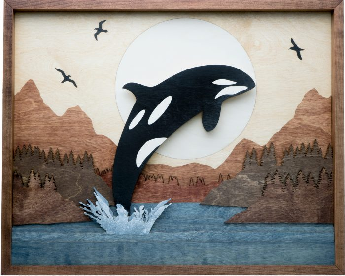 Orca Sunrise - 25x20x1.5 - Wood