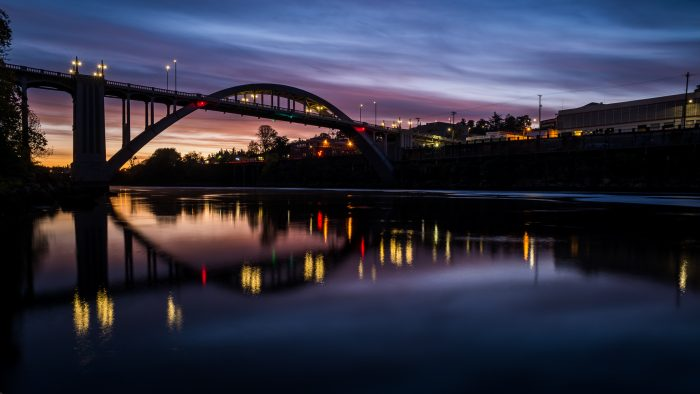 Oregon City Bridge Sunrise at Blue Hour - 24x36 - Photography