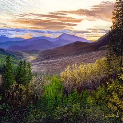 Pamela Smithsted - Witness to Sunset - 13x20x3