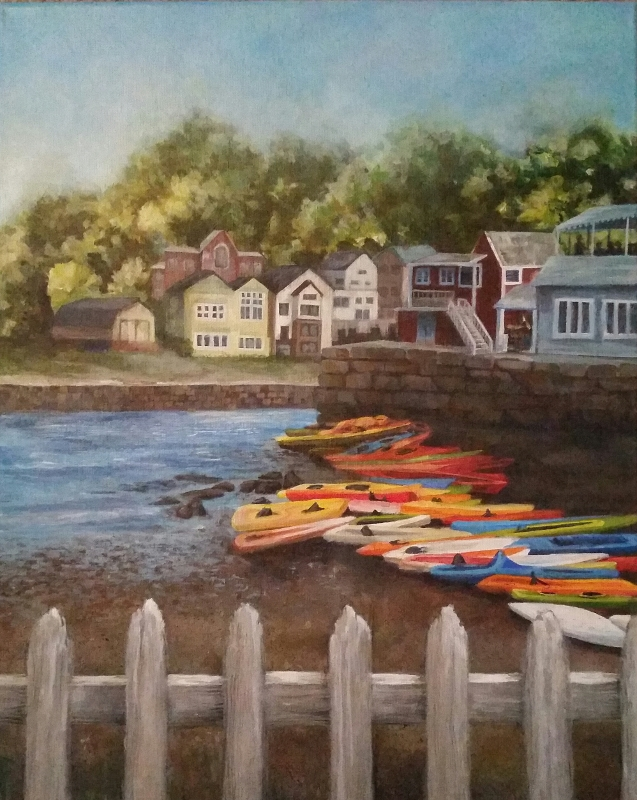Rockport Harbor 1 - 16x20 - Acrylic