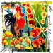 Rooster and Hollyhocks - 20x20 - Collage made with the Artist's Paintings thumbnail