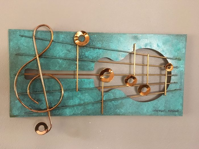 Sound the Music I - 35x17x2 - Copper-plated Steel