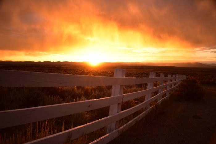 Sunset at Ruby Dome Ranch - 16x20x2 - Photography