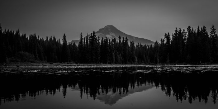 Trillium Lake Reflection - 20x10 - Photography