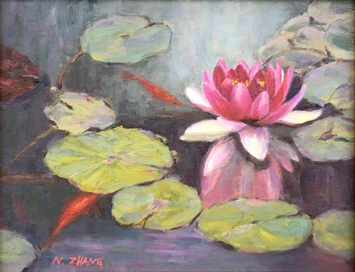 Water Lily Pond - 14x11 - Oil